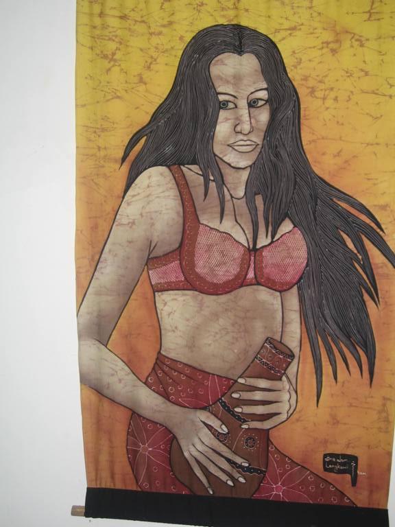 Batik di donna malese