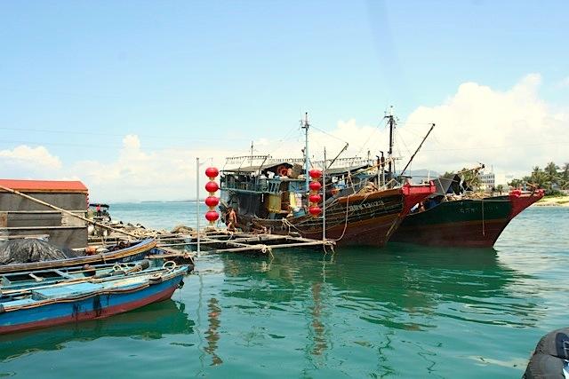 Vecchie imbarcazioni dei pescatori