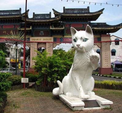 Uno dei gatti di Kuching