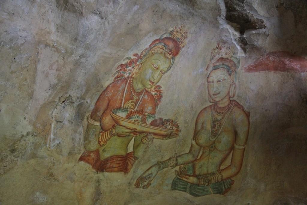 Sigiriya, dipinti del V secolo - IMG_1379