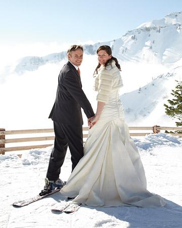 Sposi sulla neve del Kastchberg