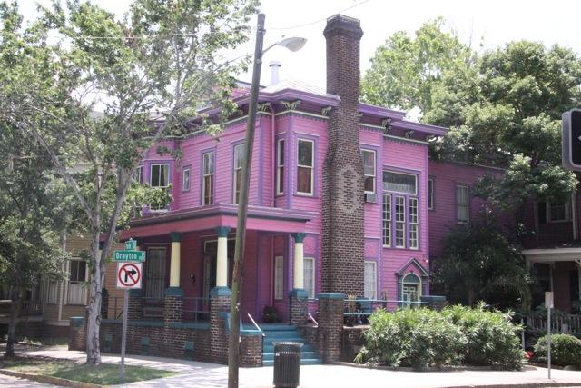 Savannah- la pink house spicca tra le altre case vittoriane
