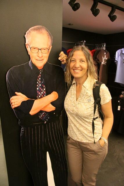"""Savina Sciacqua """"con"""" Larry King, il famoso anchorman della CNN"""