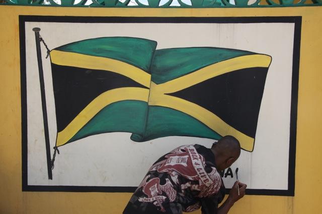 Murales della bandiera giamaicana