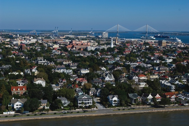 Foto aerea di Charleston