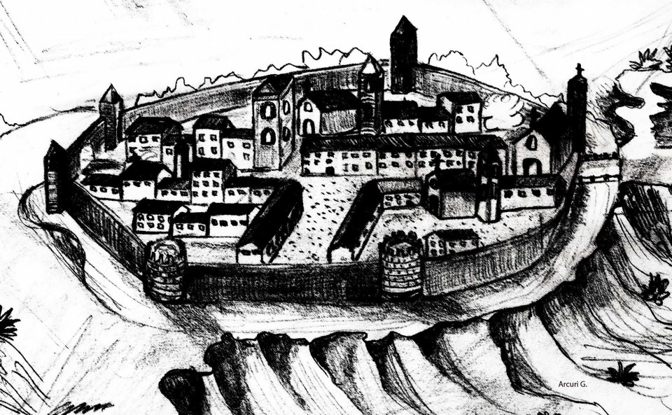 Disegno della Felizzano storica