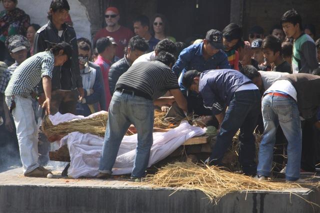 Durante una cremazione