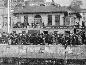 Una foto del vecchio porto di Southampton