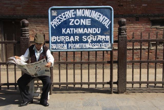 Inizio piazza Durbar a Kathmandu