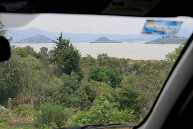 Dal lunotto le isole del Lago di Patzcuaro