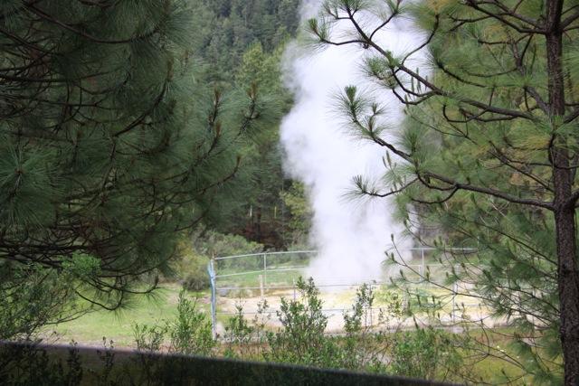 Parco nazionale de Los Azufres, un geyser naturale