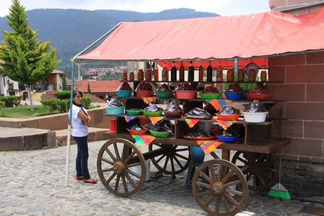 Tlalpujahua, vendita di frutta candita