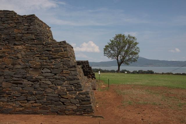 Tzintzuntzan, scorcio della piramide di Yacatas