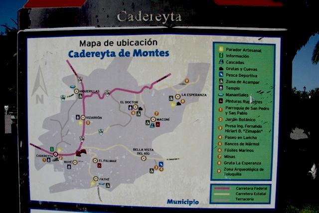 Mappa di Cadereyta