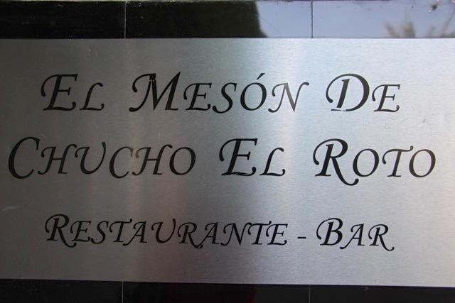 Ristorante dedicato al Chucho El Roto, il Robin Hood locale