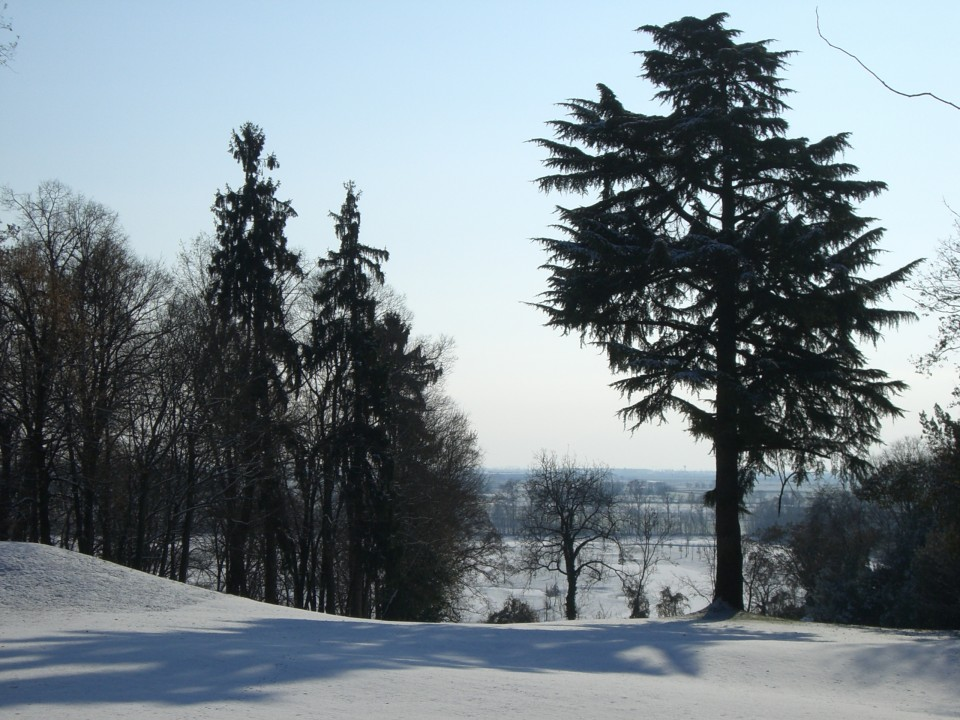 Il Golf Club Castel D'Aviano innevato