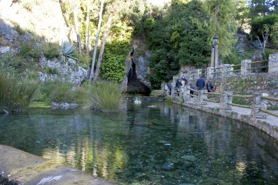 Le acque verdi del Nacimiento del Río Genal