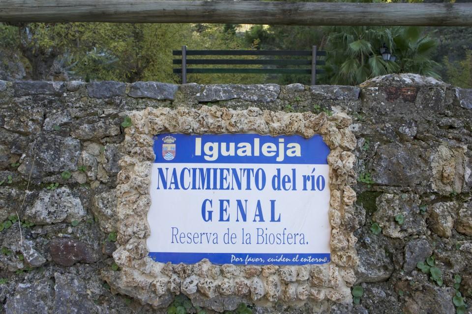La sorgente del fiume Genal a Igualeja