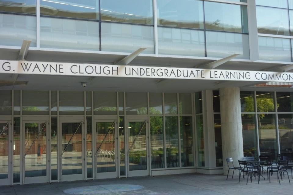 L'entrata del Clough Undergraduate Learning Commons. Grazie a Matt Henderson per le foto del Georgia Tech.