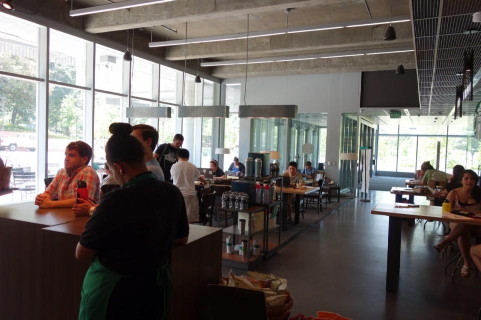 Starbucks all'interno del Clough. Grazie a Matt Henderson per le foto del Georgia Tech.