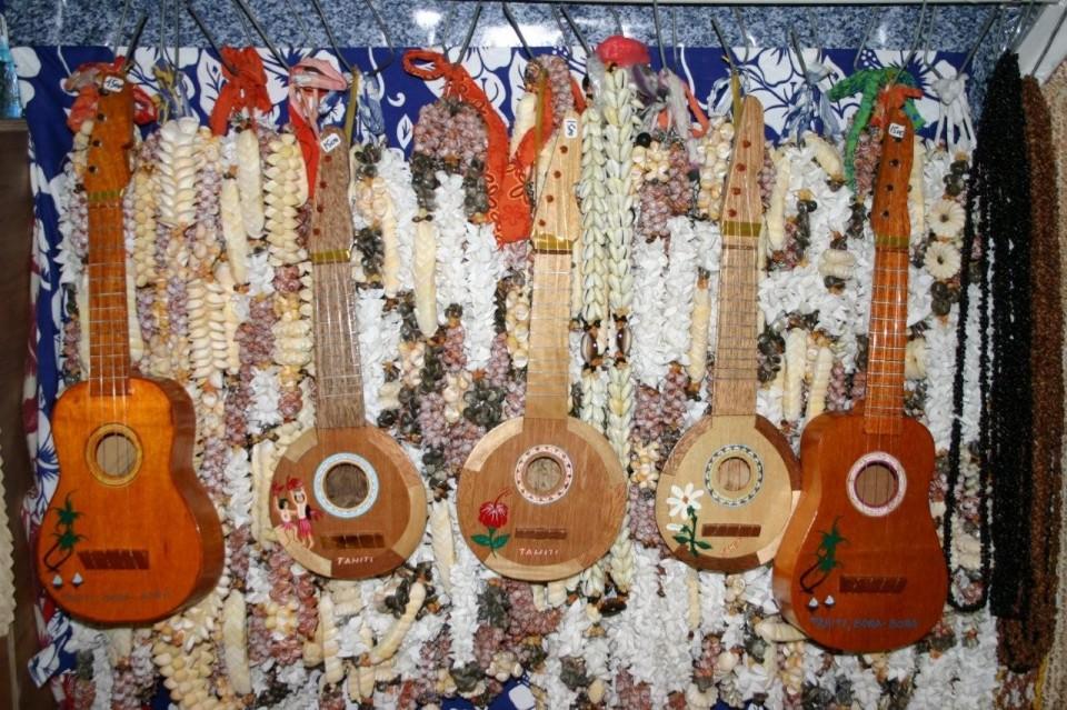 Gruppo di ukulele in mostra