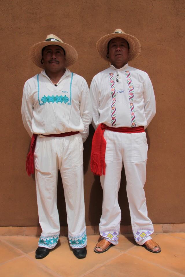 I locali che lavorano all'Hacienda Ucazanaztacua