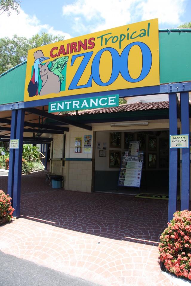 Ingresso allo zoo di Cairns
