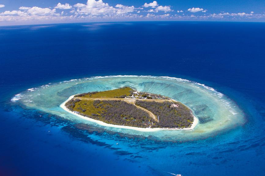 Un classico atollo della Grande Barriera