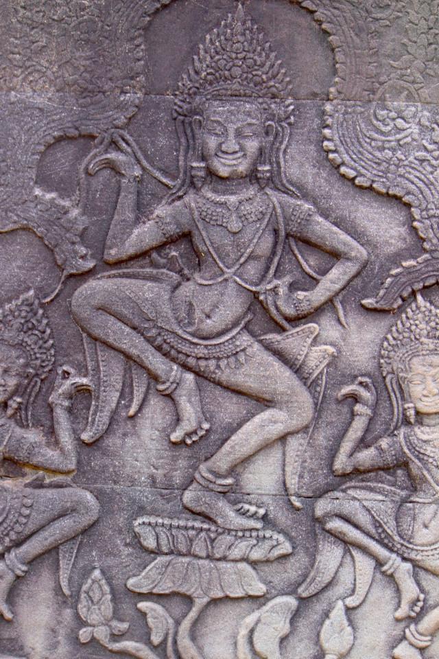 Una danzatrice di Apsara, la tradizionale danza cortigiana