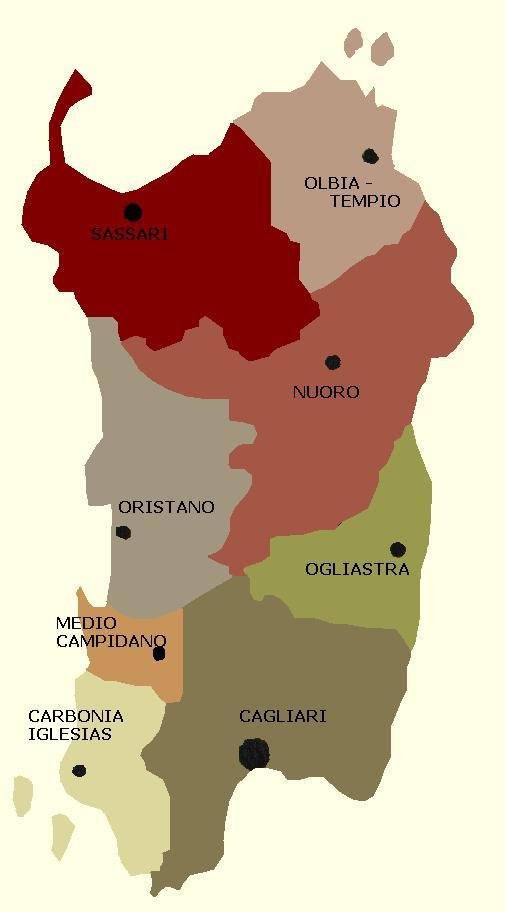 Cartina Politica Sardegna.Carta Politica Sardegna Dolce Vita Travel Magazine