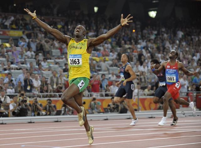 Bolt taglia il traguardo vittorioso