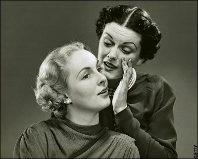Come veniva rappresentato un pettegolezzo negli anni '50