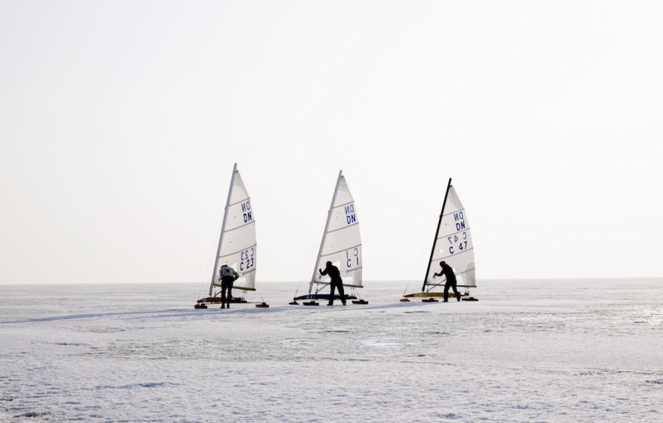 Ice sailing in Saaremaa