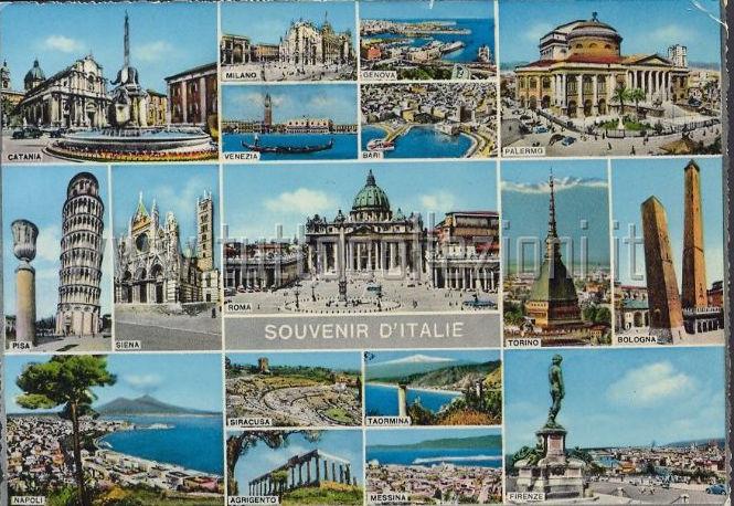 Cartolina puzzle dall'Italia