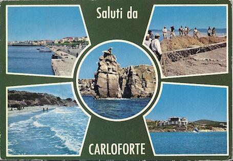 Una classica cartolina di saluti da un luogo