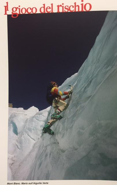 Mario sull'Agibile erte del Monte Bianco