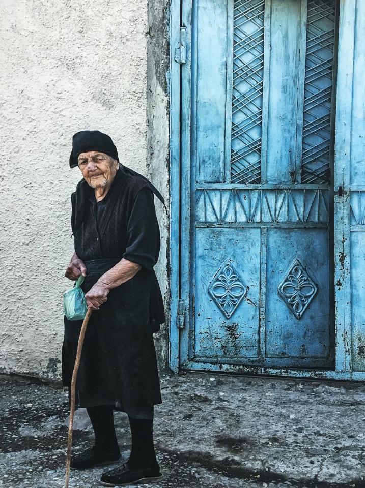 L'anziana donna