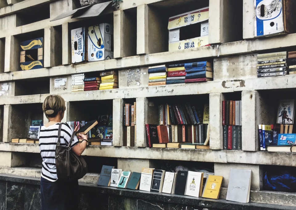 Una libreria di fortuna