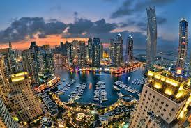 Un panorama del centro di Dubai