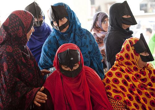 Il Burqa delle donne beduine