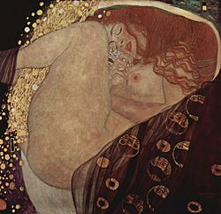 Danae di Gustav Klimt