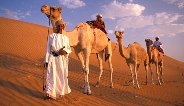 Una carovana di cammellieri