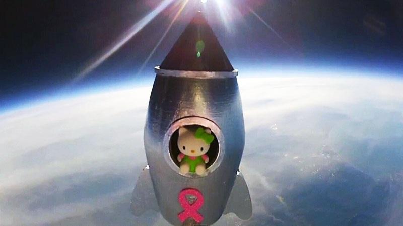 Anche Kitty, la gattina più famosa, è andata nello spazio