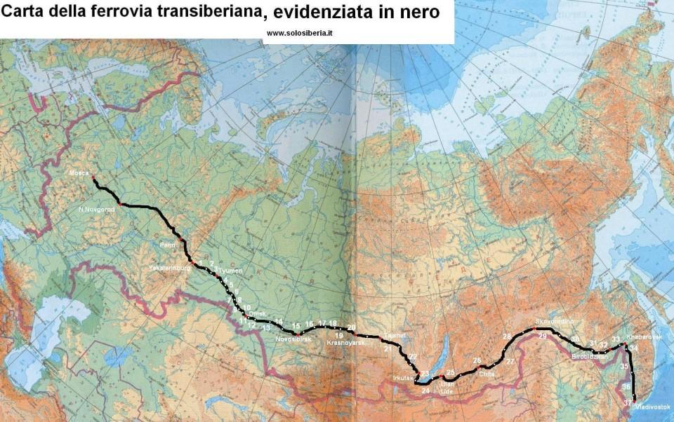 Tragitto della Transiberiana