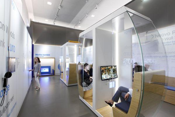 Un'altra sala dentro il Museo del Risparmio