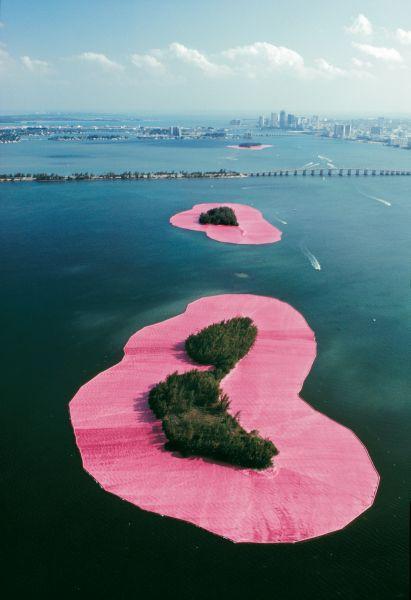 Alcune isole impacchettate al largo della Florida, come ninfee in mezzo all'acqua