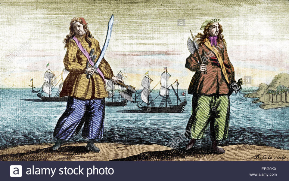 Anne Bonny a Mary Read, piratesse donne