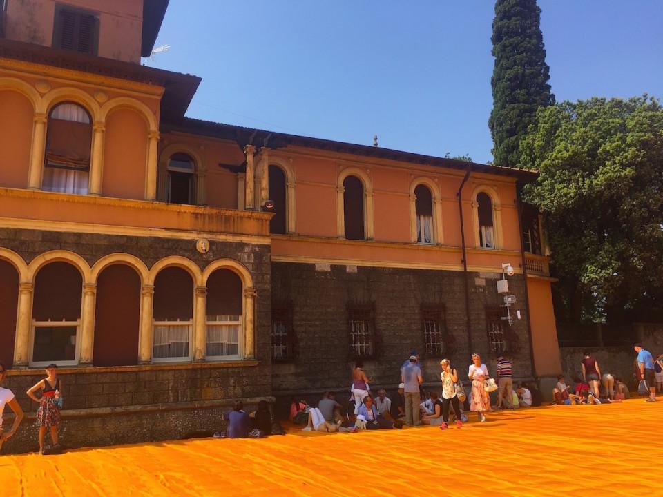 Il Palazzo dei Beretta/Gnutti sull'isolotto al quale si aveva accesso durante The Floating Piers