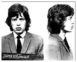Mick Jagger nella segnaletica