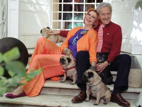 Marina e il marito con i loro Carlini